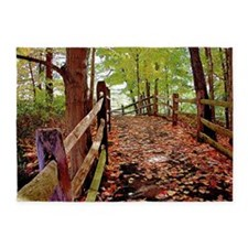 Fall Pathway 5'x7'area Rug