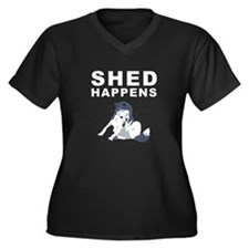 Unique Siberian husky Women's Plus Size V-Neck Dark T-Shirt