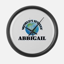 World's Sexiest Abbigail Large Wall Clock