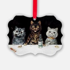 Bachelor Party Cats; Vintage Poster Ornament