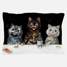 Bachelor Party Cats; Vintage Poster Pillow Case