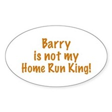 Barry Not King Oval Decal