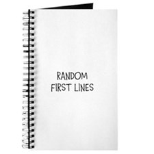 RANDOM FIRST LINES Journal