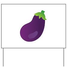 Eggplant Yard Sign