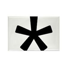 Asterisk Rectangle Magnet