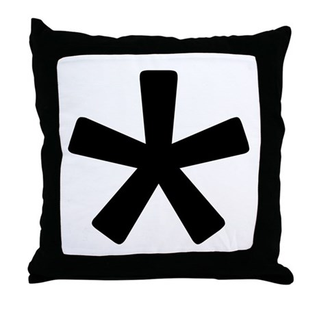 Asterisk Throw Pillow