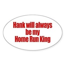 Hank Home Run Oval Decal