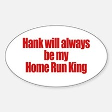 Hank Home Run Oval Decal