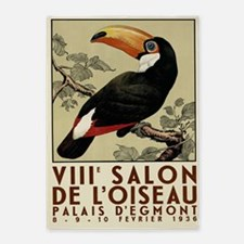 Toucan Vintage Poster 5'x7'area Rug