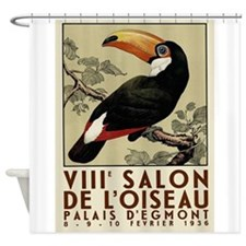 Toucan Vintage Poster Shower Curtain