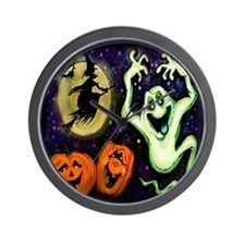 Cute Halloween witch Wall Clock