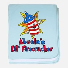 Abuela's Little Firecracker baby blanket