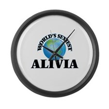 World's Sexiest Alivia Large Wall Clock