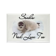 Seals Need Love Rectangle Magnet (100 pack)