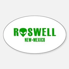 Cute Roswell new mexico disc golf Sticker (Oval)