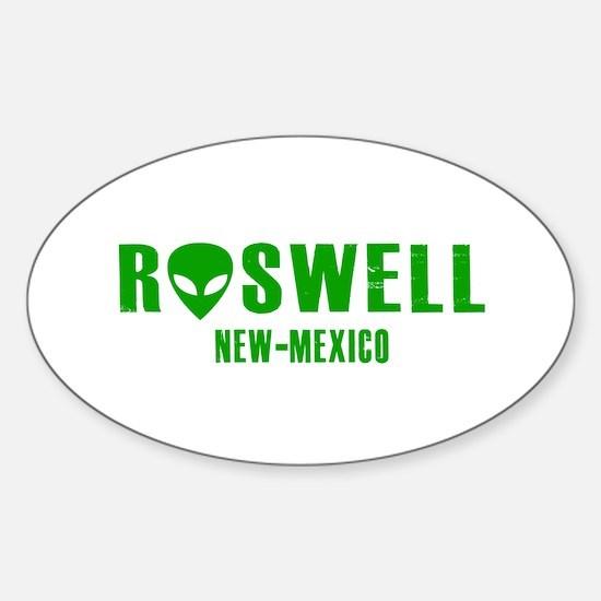 Cute Roswell alien Sticker (Oval)
