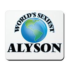 World's Sexiest Alyson Mousepad