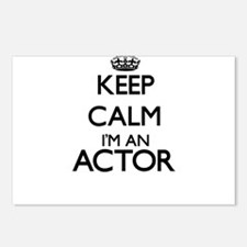 Keep calm I'm an Actor Postcards (Package of 8)