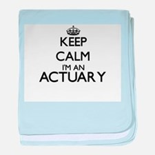 Keep calm I'm an Actuary baby blanket