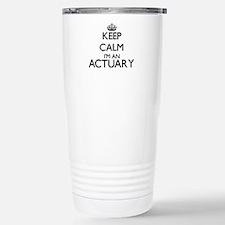 Keep calm I'm an Actuar Travel Mug