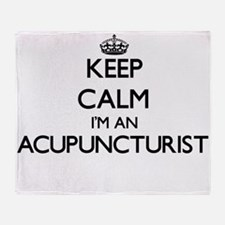 Keep calm I'm an Acupuncturist Throw Blanket