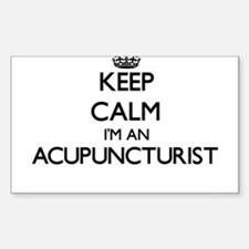 Keep calm I'm an Acupuncturist Decal