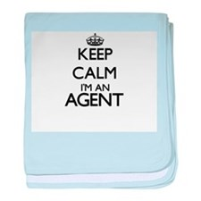 Keep calm I'm an Agent baby blanket