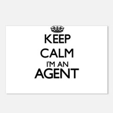 Keep calm I'm an Agent Postcards (Package of 8)