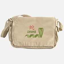 Chinese Snake Symbol Messenger Bag