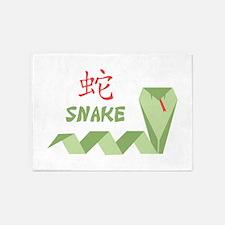 Chinese Snake Symbol 5'x7'Area Rug