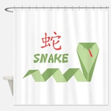 Chinese Snake Symbol Shower Curtain