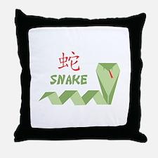 Chinese Snake Symbol Throw Pillow