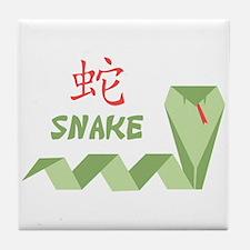 Chinese Snake Symbol Tile Coaster