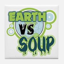 Earth VS Soup Tile Coaster