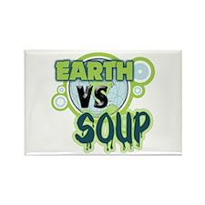 Earth VS Soup Rectangle Magnet