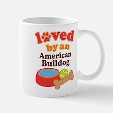 Loved By An American Bulldog Mug