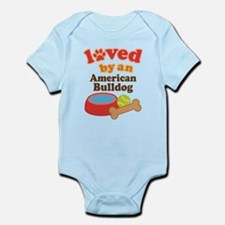 Loved By An American Bulldog Infant Bodysuit