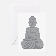 Buddha Statue Greeting Cards