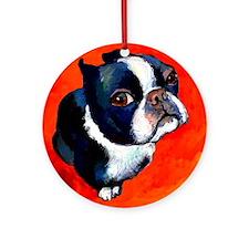Boston Terrier #4 Ornament (Round)