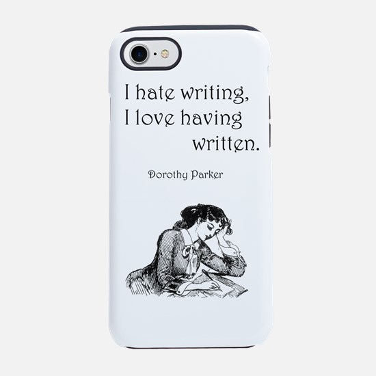 Love/Hate Writing iPhone 7 Tough Case