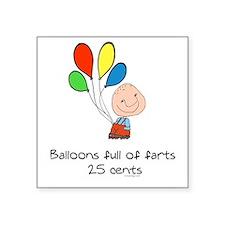 Balloons full of farts Humor Sticker