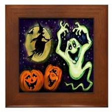 Cute Trick or treat Framed Tile