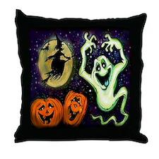 Cute Halloween witch Throw Pillow