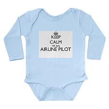 Keep calm I'm an Airline Pilot Body Suit