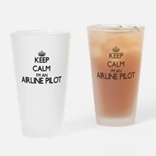 Keep calm I'm an Airline Pilot Drinking Glass