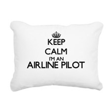 Keep calm I'm an Airline Rectangular Canvas Pillow