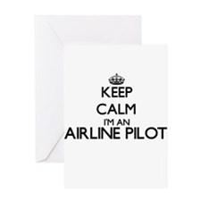 Keep calm I'm an Airline Pilot Greeting Cards