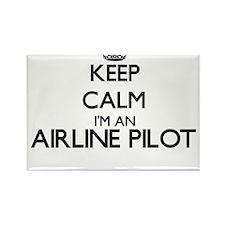 Keep calm I'm an Airline Pilot Magnets