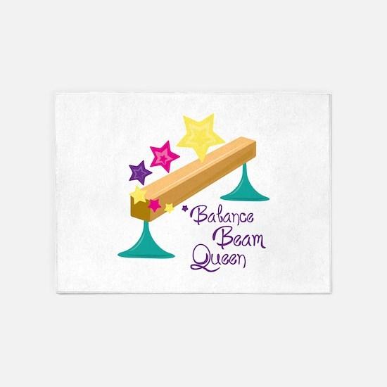 Balance Beam Queen 5'x7'Area Rug