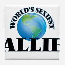 World's Sexiest Allie Tile Coaster